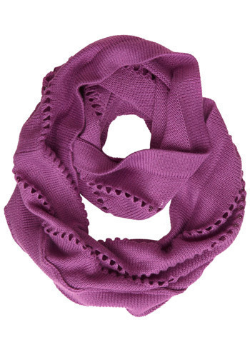 Creating Continuity Scarf - Purple, Solid, Cutout, Knitted, Casual