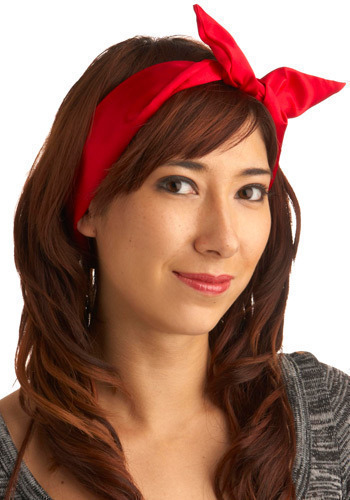 Haute Wire Headband in Crimson - Red, Solid, Bows, Casual, Vintage Inspired, 50s, Statement, Nautical, Rockabilly