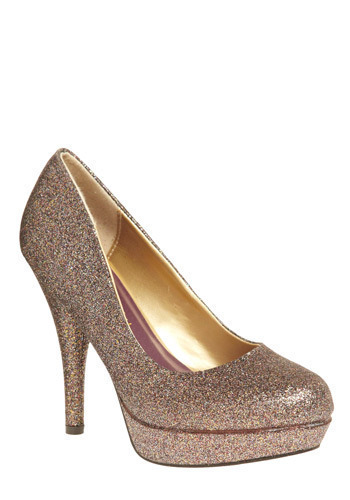 Pick of the Glitter Heel - Silver, Bronze, Prom, Party