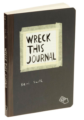 Wreck This Journal Book by Penguin Books - Black, Handmade & DIY