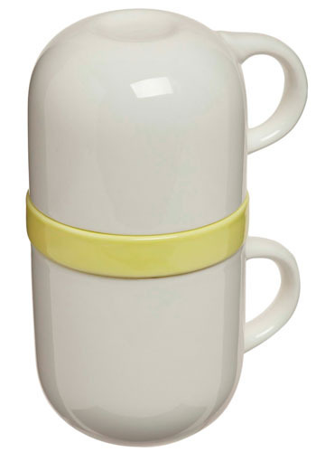 Teatime Restrain-t Tea Set in Lemon - White, Yellow, Dorm Decor