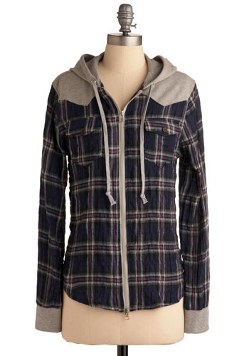 Friend Request Top - Purple, Tan / Cream, Plaid, Casual, Long Sleeve, Fall, Winter, Multi, Blue, Grey, Mid-length