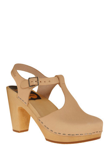 Bold Endeavors Heel in Gain by Swedish Hasbeens - Cream, Solid, Casual, Luxe, Spring, Summer