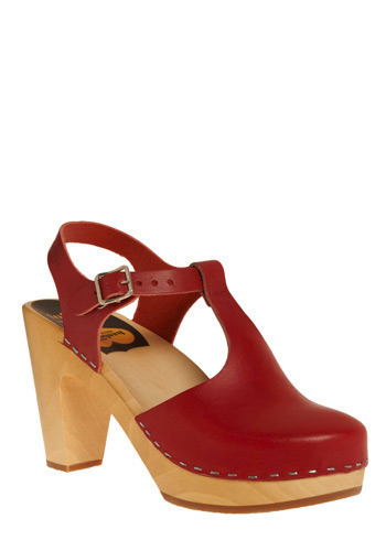 Bold Endeavors Heel in Risk - International Designer, Red, Mid, Best, Platform, Chunky heel, T-Strap