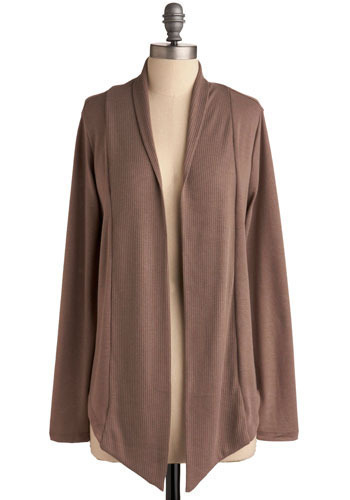 Downright Addicting Cardigan in Chocolate - Brown, Solid, Knitted, Casual, Long Sleeve, Fall, Winter
