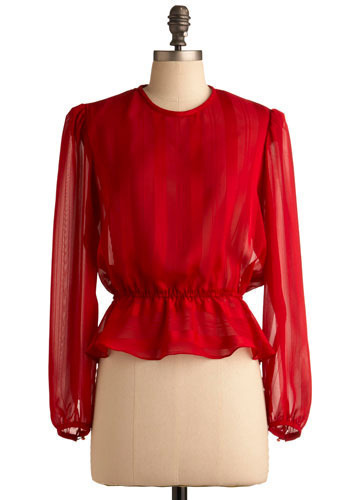 Vintage Resplendent in Ruby Top