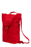 Canvassing Backpack in Neighborhood by Baggu - Red, Solid, Casual, Cotton