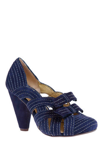 In With the New Heel in Navy by Seychelles