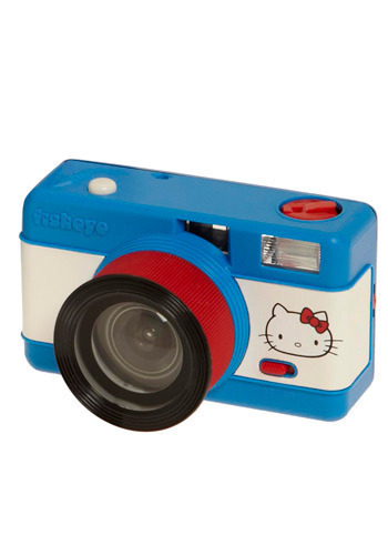 Life From a Fishbowl Camera in Hello Kitty - Blue, White, Red