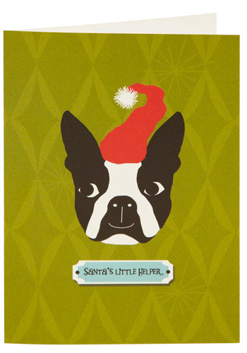 Santa's Lil Terrier Christmas Cards