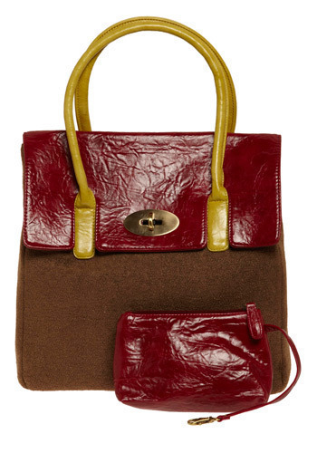 City-Wide Style Handbag - Red, Brown, Yellow, Casual, Luxe, Urban