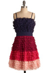 Berry Merry Dress - Purple, Pink, Pleats, Party, A-line, Spaghetti Straps, Short