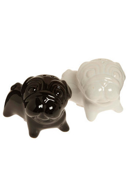 Give Me a Pug Salt and Pepper Shakers