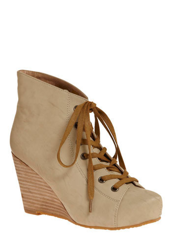 Urban Everywhere Bootie - Tan, Cream, Solid, Casual, Urban