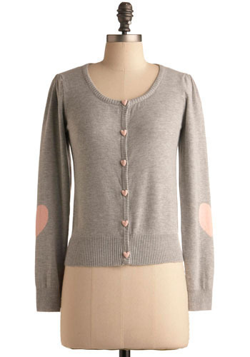 Show You Care Cardigan - Grey, Pink, Buttons, Work, Casual, Long Sleeve, Fall, Winter, Short