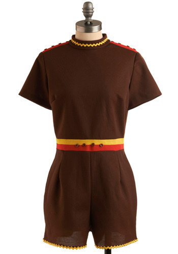 Vintage Tertiary Thrill Romper