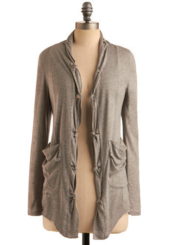 New Way of Thinking Top - Grey, Solid, Casual, Long Sleeve, Fall, Winter, Mid-length