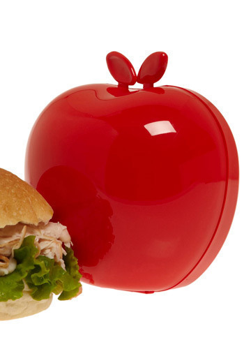 Eating Apple Sandwich Keeper in Red