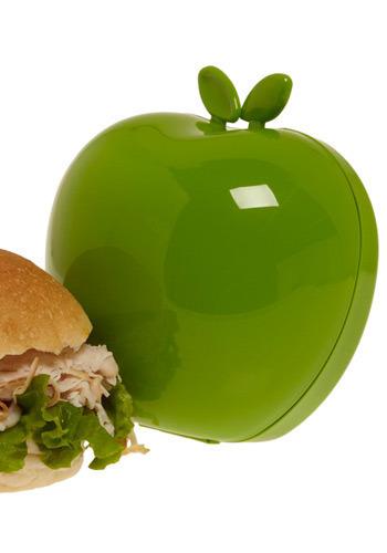 Eating Apple Sandwich Keeper in Green