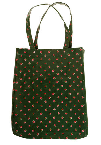 Roses Are Best Tote - Green, Red, Pink, White, Floral, Casual, Spring, Summer