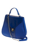 Bodacious Blue Bag - Blue, Silver, Solid, Chain, Casual, Luxe, Urban, 80s