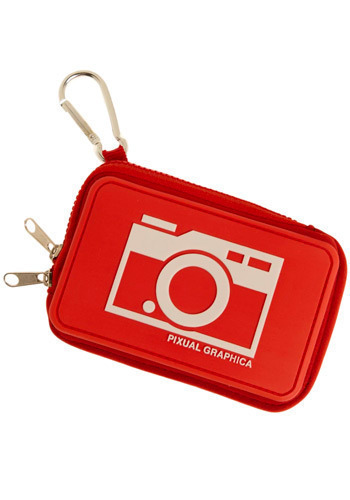 Stay Focused Camera Case in Red Eye Reduction - Red, White