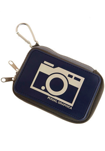 Stay Focused Camera Case in Ocean Background - Blue