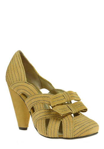 In With the New Heel in Mustard by Seychelles