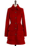 Big City Blues Coat in Red by BB Dakota - Long
