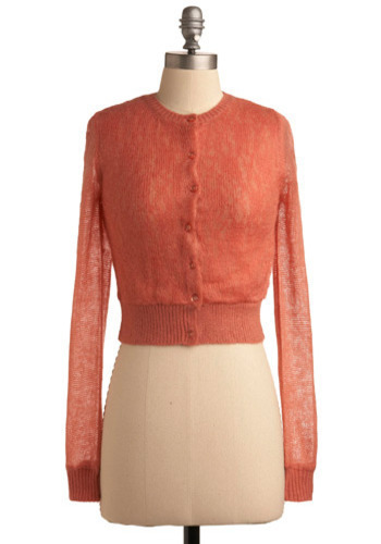 Marvelous Morning Cardigan - Orange, Floral, Lace, Casual, Long Sleeve, Spring, Summer, Fall, Short