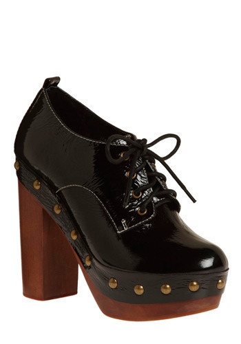 Strut and Shine Heel by Jeffrey Campbell - Black, Solid, Studs, Casual, Luxe, Statement
