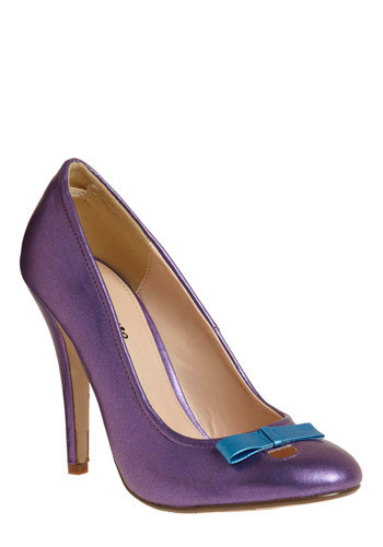 Amethyst Aspirations Heel - Purple, Blue, Bows, Cutout, Party, Work, Casual