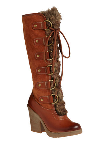 Great Adventure Boot - Brown, Solid, Animal Print, Bows, Casual, Fall, Winter