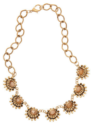 Marvelous Mum Necklace - Gold, Chain, Flower, Formal, Party, Casual