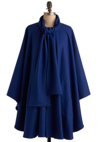 Bright Blue Yonder Cape - Long