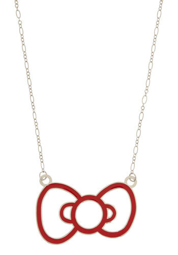 Hello, Snazzy Style Necklace by Loungefly - Red, Silver, Casual