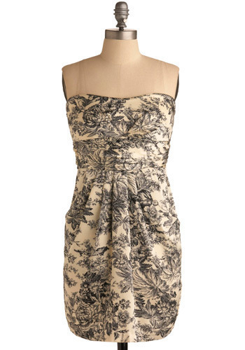 And Toile a Good Dress - Cream, Black, Print, Party, Casual, Sheath / Shift, Sleeveless, Spring, Summer, Short