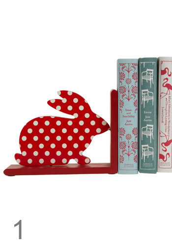 Bookish Creature Bookends - Red, White, Polka Dots, Dorm Decor