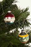 Vintage Stripe-Out Bulb Ornament Set