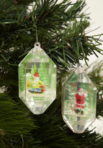 Vintage Charming Santa Ornament Set