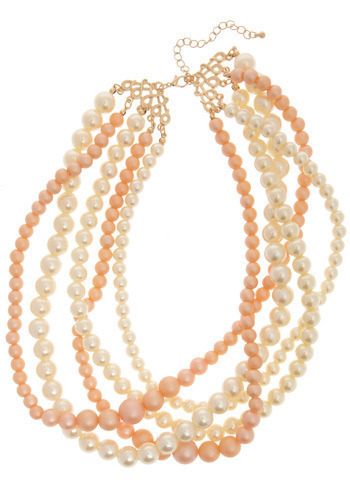 Never Enough Necklace - Pink, White, Pearls, Formal, Wedding, Party, Luxe, Statement