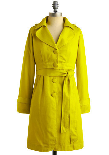 Tell the Chartreuse Coat - Long