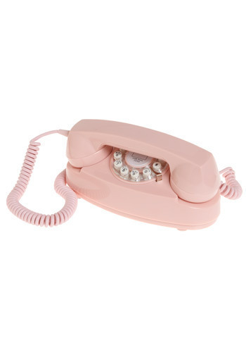Dial P for Princess Phone - Pink, Dorm Decor
