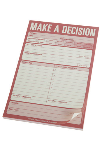 Make A Decision Notepad - Pink, Solid