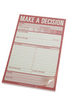 Make A Decision Notepad by Knock Knock - Pink, Solid