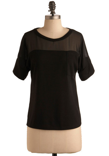 Top of the Town - Black, Solid, Pockets, Casual, Short Sleeves, Spring, Summer, Mid-length