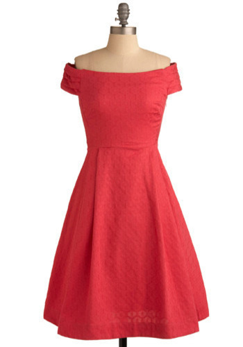 Kettle Corn Dress in Coral