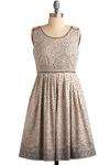 Sprinkled with Sweetness Dress in Cream by Darling - Cream, Black, Polka Dots, Pleats, Party, Casual, Vintage Inspired, A-line, Sleeveless, Mid-length, Print
