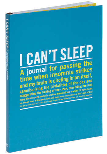 I Can't Sleep Journal by Knock Knock - Blue, Travel