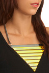 Make the Big Time Necklace - Black, Gold, Stripes, Chain, Party, Casual, Vintage Inspired, 80s, Statement